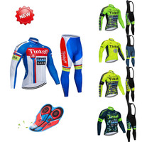 2019 tinkoff Pro Team Cycling Jersey Quick Dry Long Sleeve Jerseys And Cycling Bib Shorts Sets Cycling Clothes 7Color