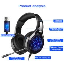 MC N1 profesjonalne słuchawki dla graczy słuchawki z mikrofonem światło Surround Sound słuchawki basowe dla graczy PC Laptop w magazynie tanie tanio centechia Technologia hybrydowa Przewodowy 112±3dbdB Brak 2 2m Do Internetu Bar Monitor Słuchawkowe Do Gier Wideo Wspólna Słuchawkowe
