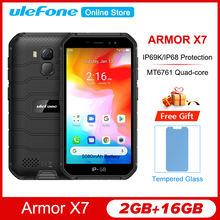 Ulefone Armor X7 ''Hd Android 10 IP68/IP69K Robuuste Waterdichte Smartphone 2Gb 16Gb Ip68 Quad Core Nfc 4G 4000Mah Mobiele Telefoon
