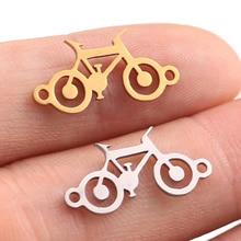 5 шт. ожерелье из нержавеющей стали с подвеской для женщин, мужчин, классический велосипед, золото/сталь, цвет колье, ожерелье, помолвка, ювелирные изделия