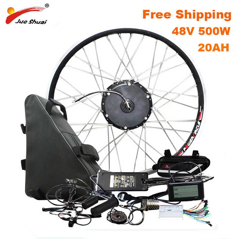 100 на расстояние км Электрический велосипед конверсионный комплект с 48V20AH батарея бесщеточный концентратор мотор колеса bicicleta электика e велосипед комплект