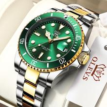 Luxury Men Watch Original Top Brand Green Waterproof Quartz Sports Stainless Steel dive Rolexable Wristwatch Reloj Hombre + Box
