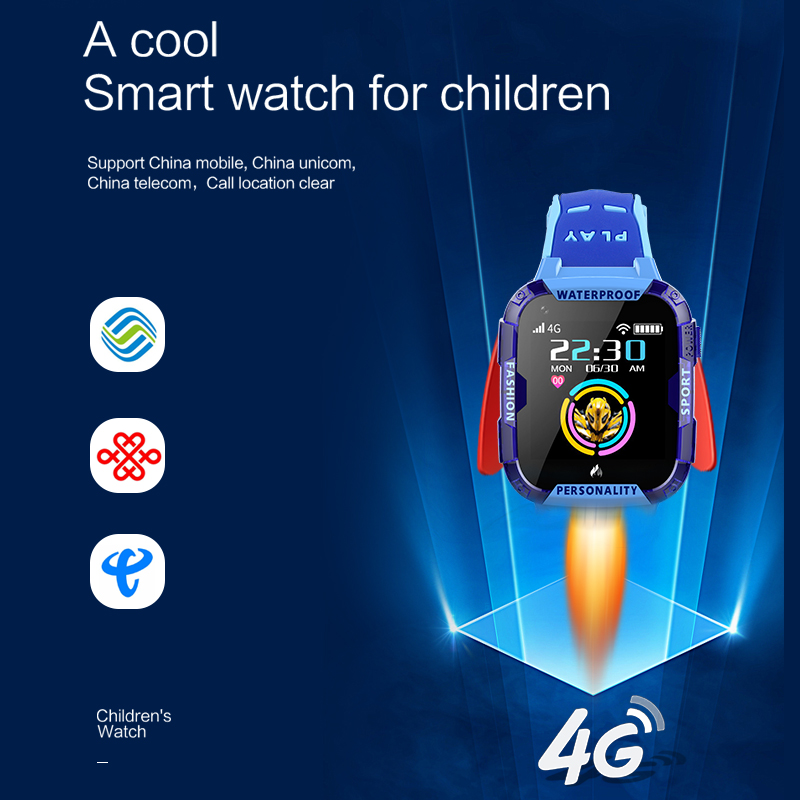 LIGE 4G Smart Watch For Kid GPS Positioning Tracker Wifi Connection Video Call SOS A Button Help Baby Smart Watch Boy Girl Box in Smart Watches from Consumer Electronics