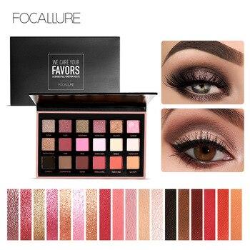 Focallure بريق العين الظل 18 ألوان الصباغ ظلال العيون لوحة للماء سهلة لارتداء وميض تشكل عينيه