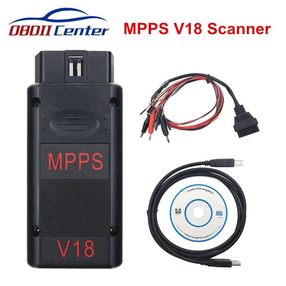 Neu MPPS V18 Ecu Chip Tuning Scanner TRICORE + MULTIBOOT Kabel MPPS V18.12.3.8 V16 V13 Flasher Auto Diagnose Werkzeug Für edc17