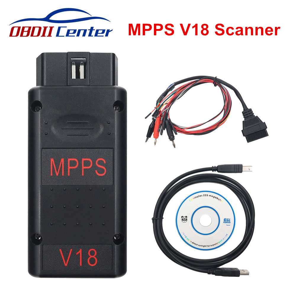 Newly MPPS V18 Ecu Chip Tuning Scanner TRICORE + MULTIBOOT Cable MPPS V18.12.3.8 V16 V13 Flasher Auto Diagnostic Tool For Edc17