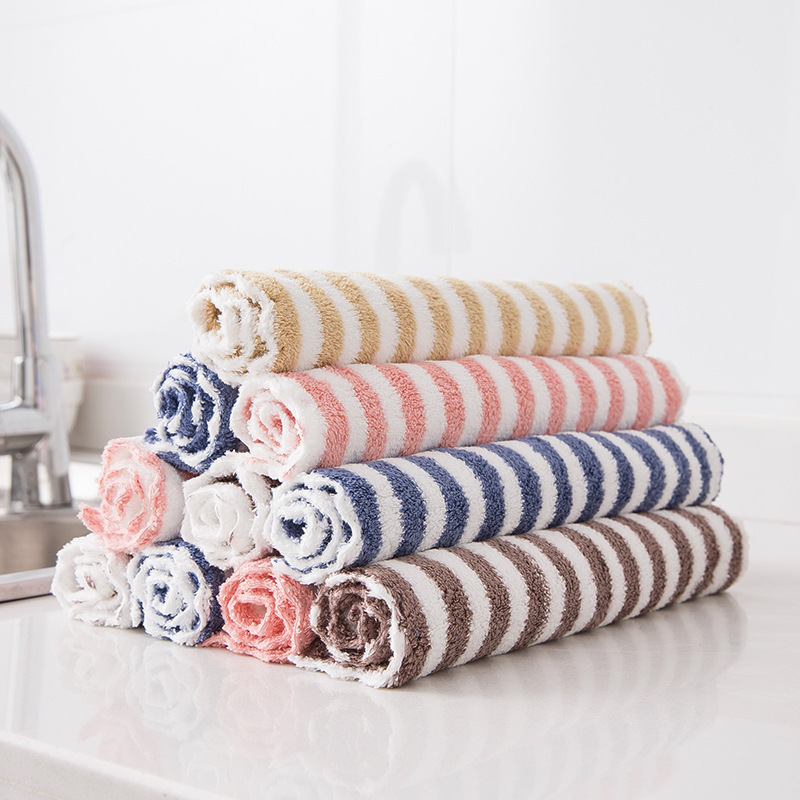 Kitchen Anti-grease Wiping Rags Efficient Super Absorbent Micro Fiber Cleaning Cloth Home Washing Dish Kitchen Cleaning Towel