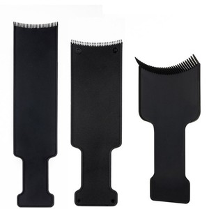 Image 2 - Plaque de coloration pour Salon de coiffure, en plastique professionnel noir, plaque de coloration pour coiffeur, accessoires de coiffure, outils de coiffure, 1 pièce