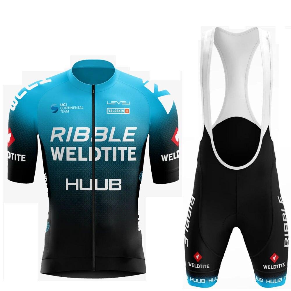 HUUB צוות רכיבה על אופניים ג 'רזי סט 2021 איש קיץ MTB גזע בגדים קצר שרוול Ropa Ciclismo חיצוני רכיבה אופני אחיד
