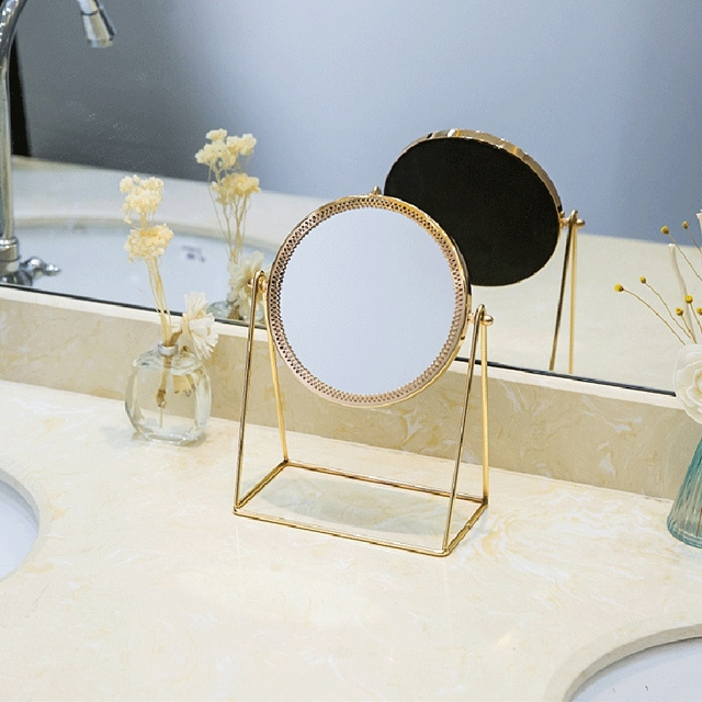 Metal Decorative Mirror Lady Desktop Makeup Mirror Crafts Three-Dimensional Princess Mirror Home Decor Accessories 4