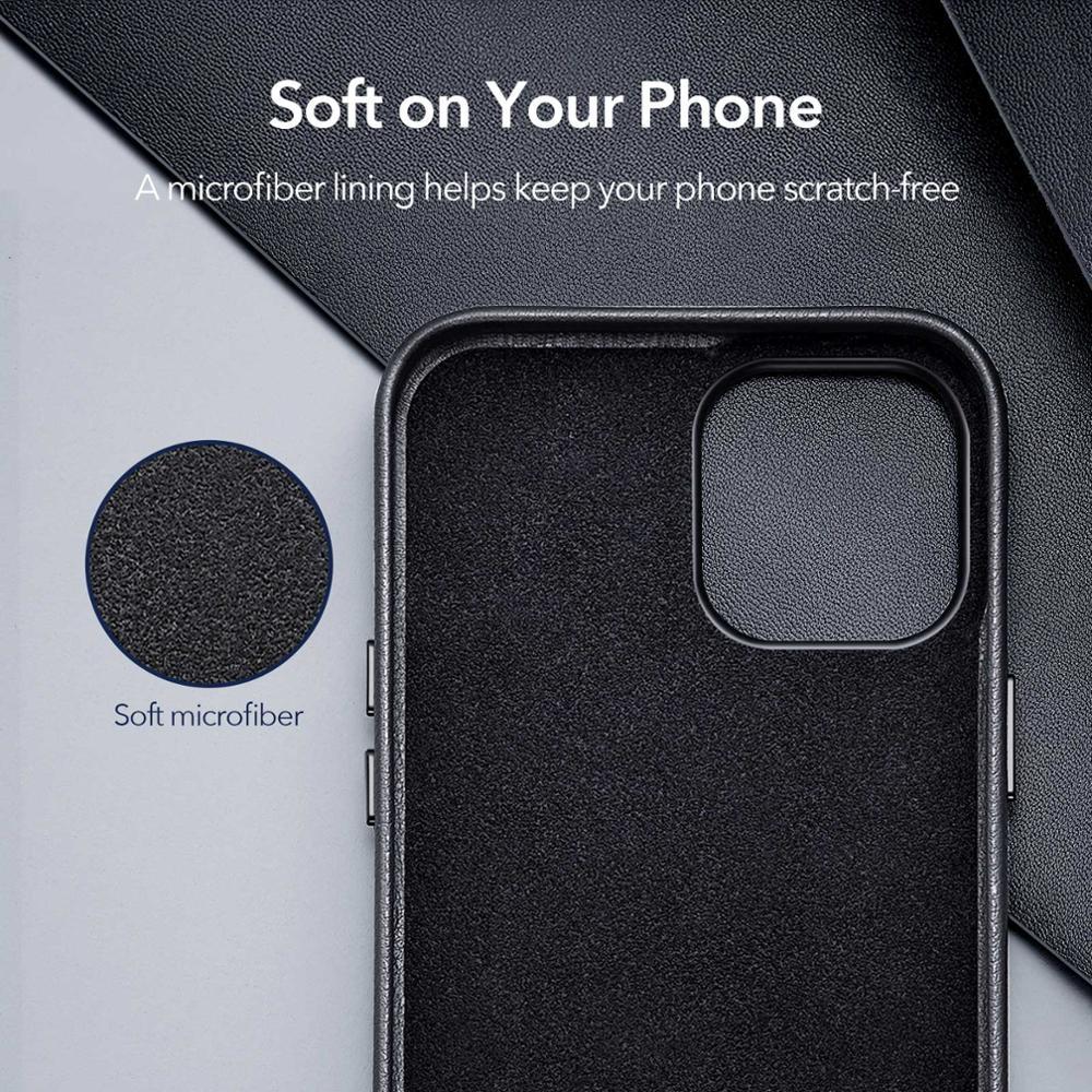 Esr Luxe Case Voor Iphone 12 Lederen Back Cover Voor Iphone 12 Mini 12 Pro Max Echt Lederen Business Case voor Iphone 12 3