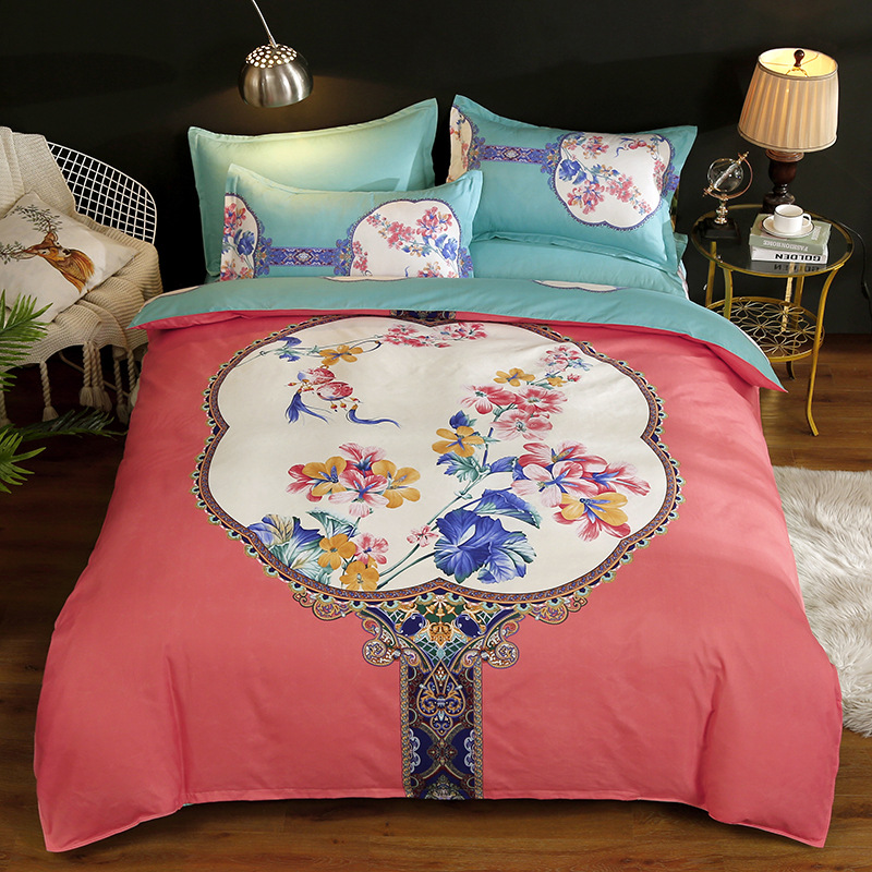 Wechat Business Recruit Agents Fuana Bedding Four Sets Fang Chun Mian Brushed Cotton Quilt Cover Sheet