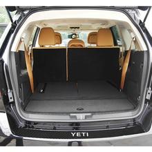 Pu-Stickers Skoda Yeti Car-Accessory Rear Bumper Carbon-Fiber for Trunk-Tail-Lip