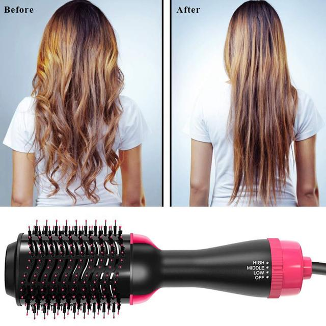 One Step Hair Dryers And Volumizer Blower Professional 2-in-1 Hair Dryers Hot Brush Blow Drier hair dryer and hair straightener 4