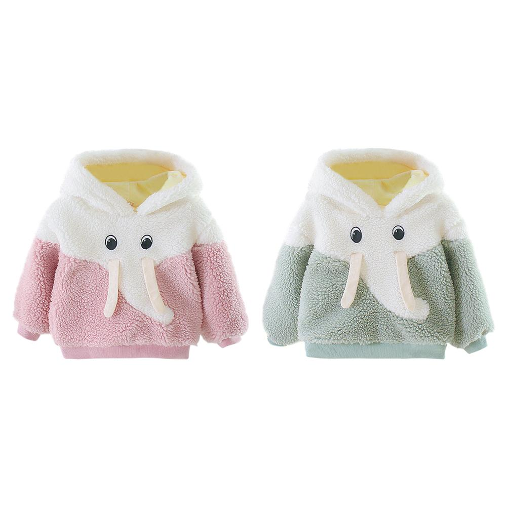 Durable Baby Girls Coat Skillful Manufacture Cotton Warm Baby Girls Cartoon Long Sleeve Fleece Winter Lovely Leisure Coat