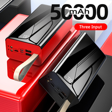 50000mAh Powerbank Portable Charger Battery USB Type C Poverbank For iPhone 11 Samsung S20 Xiaomi mi