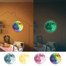 3D Wall Stickers Luminous Moon Earth Cartoon for Kids Room Bedroom Glow In The Dark Sticker Home Decor Living D30