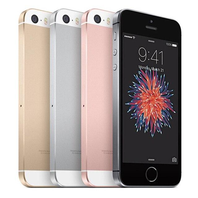 Original Apple iPhone SE Used 99% New 4G LTE Unlocked Mobile Phone 16GB 32GB 64GB 12MP Wifi Cellphones 2