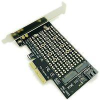 Высокоскоростной NVME X4 X8 X16 SATA двухсторонний диск M.2 на рабочий стол PCIe PCI Express мини адаптер для компьютера конвертер карта расширения
