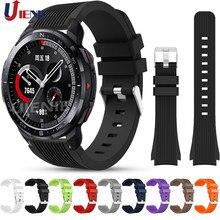 Correa de silicona para Huawei Honor ver GS Pro correa de reloj mágico 2 46mm pulsera deporte de reemplazo de pulsera 22mm correa