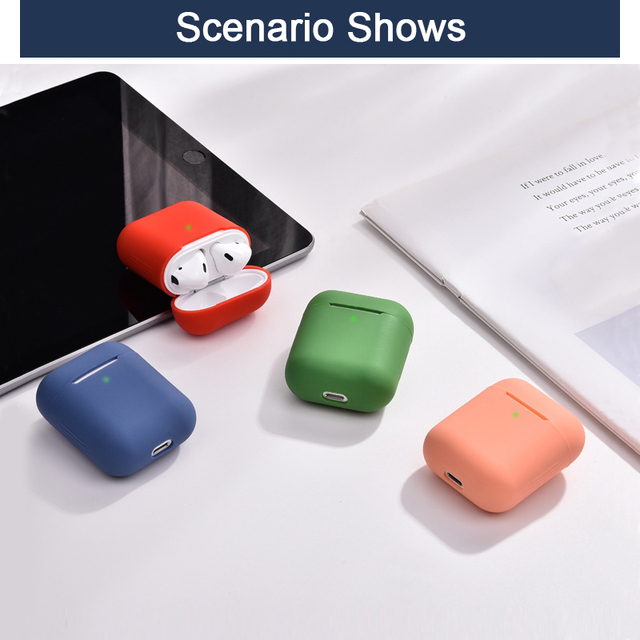Soft Silicone Airpods Cases For Apple Airpods 1/2 Cases Wireless Bluetooth Headphones Cover For Apple air pods Charging Box Bags 2