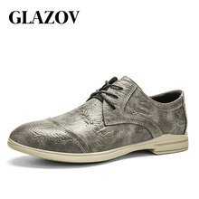 GLAZOV Fashion Hot Sale Men's Shoes Breathable Men Casual Shoes Spring Autumn Male Footwear Working Shoes Leather Oxfords 38-46
