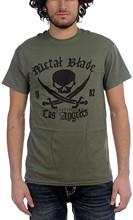 T-shirt engraçado Camiseta Hombre Graciosa Logotipo Pirata Camiseta Verde Militar en Verde Militar