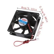 12 В 2-контактный 80x80x25 мм ПК Компьютер ЦП Система Радиатор Бесщеточный Охлаждение Вентилятор 8025 +