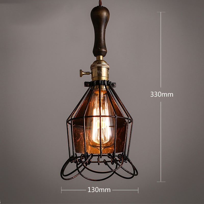 Industrial Iron Pendant Lights Lamp Decorative LED Lamps Pendant Lighting Living Room Cafe Dining Room Bar Loft Hanging Lamp in Pendant Lights from Lights Lighting