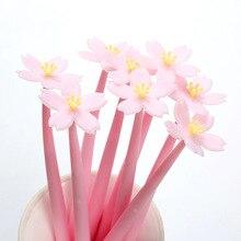 50 шт. новый мягкий цветок гель канцелярские принадлежности для творчества ручка красивый вишневый цвет ручка с принтом «сердечки» для мале...