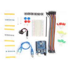 Starter Kit Beginners Learning Kit with Breadboard LED Jumper Wire Buttons Electronics Component Replacement for Arduino UNO R3