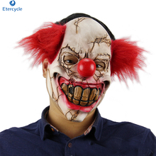 Halloween horror mask rotten face latex With hair headgear ghost demon clown zombie cosplay Party supplies