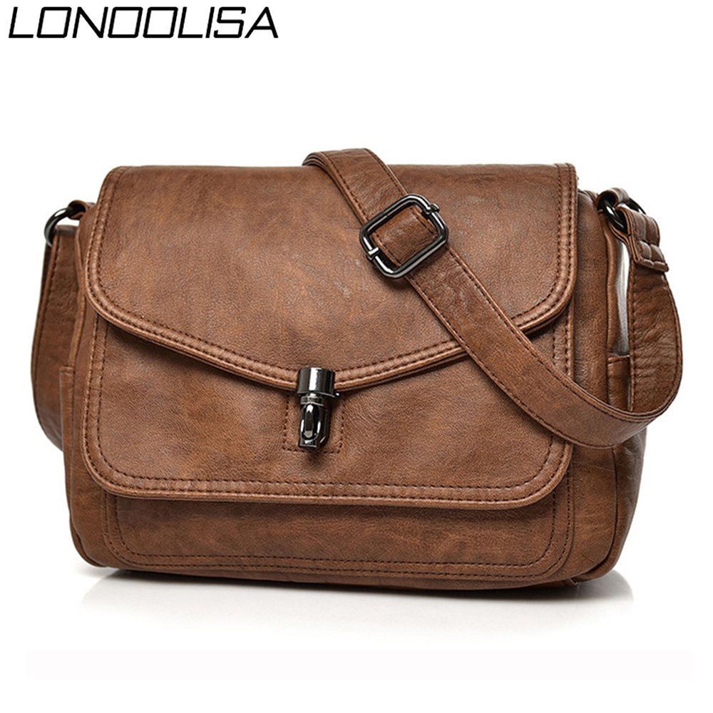 Vintage Soft Leather Women Shoulder Bags Luxury Handbags Women Bags Designer Small Crossbody Bags For Women 2019 Messenger Bag