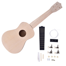 DIY HOT!21Inch Simple and Fun Ukulele DIY Kit Tool Hawaii Guitar Handwork Children's Toy Assembly for Amateur