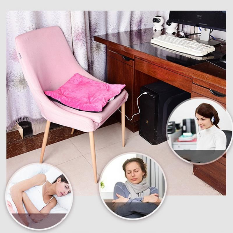 Electric Heated Cushion Home Autumn Winter USB Charging Office Chair Heating Pad