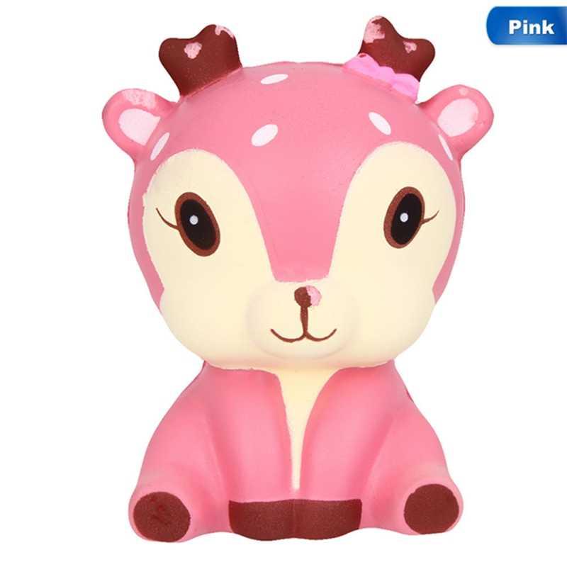 Мягкий медленно распрямляющийся мягкий игрушки милый симпатичный костюм с рисунком «Звездная Галактика»; с рисунком рождественского оленя из мультфильма животных мягкие игрушки с хорошим запахом душистый