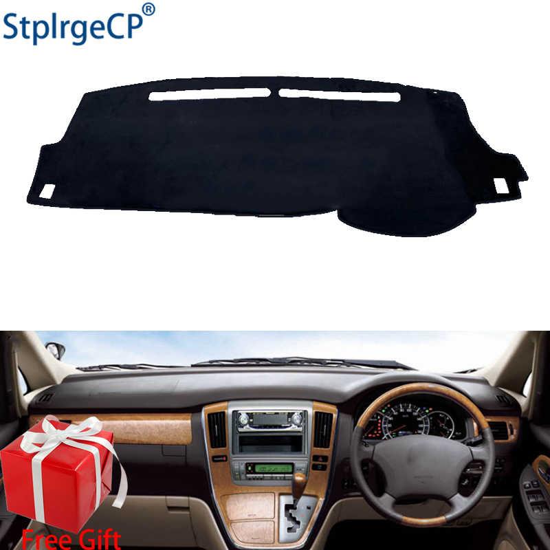 Araba Dashboard kapak Mat Toyota Alphard için 2002 2003-2007 sağ el sürücü Dashmat Pad Dash Mat kapak pano aksesuarları