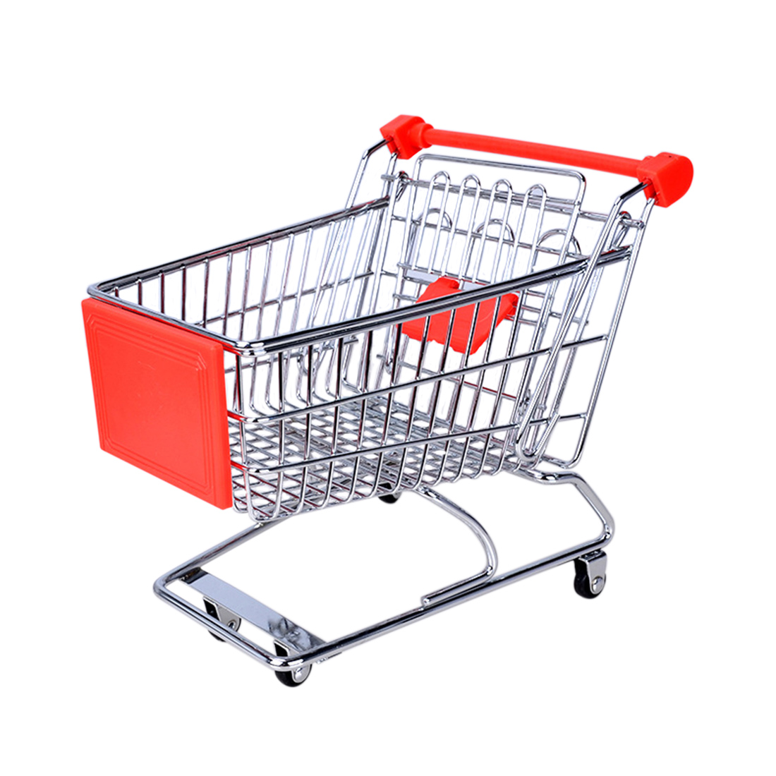 Mini Shopping Carts Toy Cart Simulation Miniature Shopping Cart Storage Pretend Play Toys Handcart Toy Baby Trolley For Kids