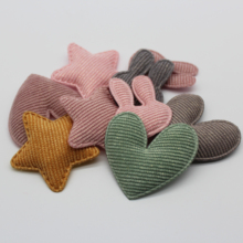 Star Rabbit Heart  Padded Patches Appliques for Craft Clothes Sewing Supplies DIY Hair Clip Brooch Cap Cake Bag Accessories 2pc set black star beaded patches for clothing sequin stars rhinestone appliques beads parche diy handmade clothes accessories