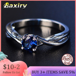 Trendy Gemstones Amethyst Silver Ring Blue Sapphire Ring Silver 925 Jewelry Aquamarine Rings For Women Engagement Rings(China)