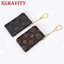 XGRAVITY – petit portefeuille européen et américain pour femmes, imprimé floral, Poker, porte-monnaie de styliste avec fermeture éclair, porte-cartes H086