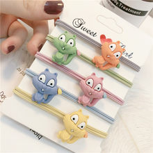 Baby Girls Cartoon Smiley Squirrel Mini Ring Elastic Hair Bands Tie Gum Hair Ponytail Holder Rubber Bands Kids Hair Accessorie(China)