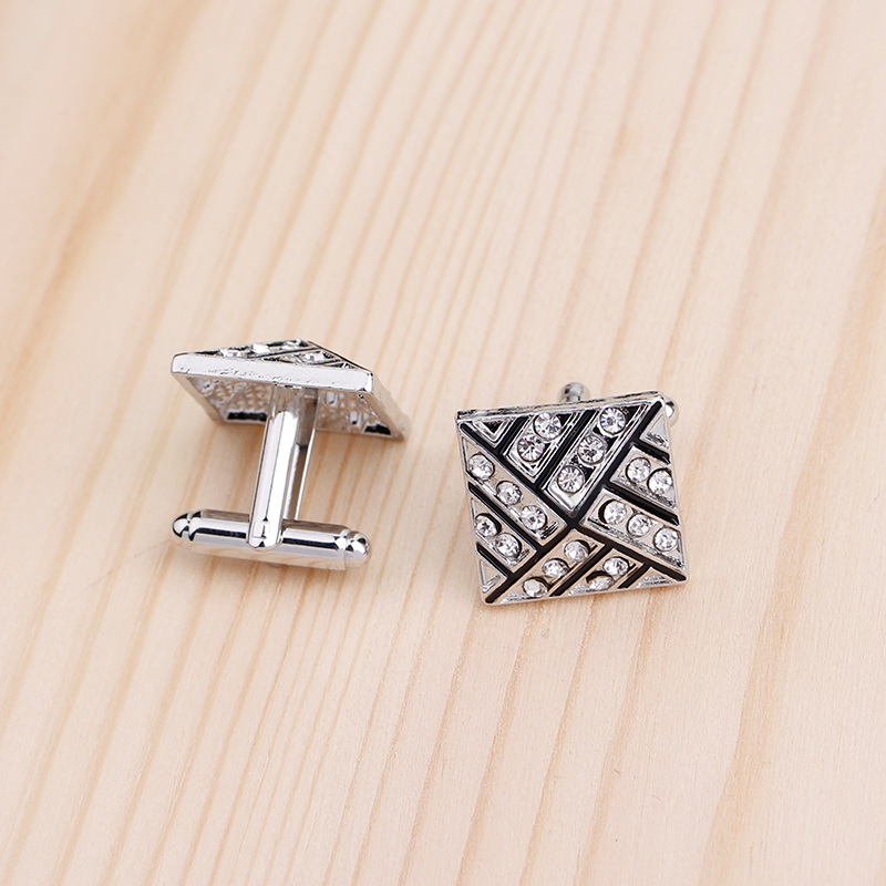 Bonito Gemelos Classic Silver color Men 39 s Cufflink Luxury gift Party Wedding Suit Shirt Cuff links in Tie Clips amp Cufflinks from Jewelry amp Accessories