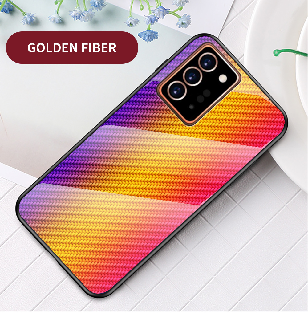 XUANYAO Case Cover For Samsung Galaxy Note 20 Plus Case Glass Hard Cover For Samsung Galaxy Note 20 Ultra Case Slim Carbon Fiber (15)