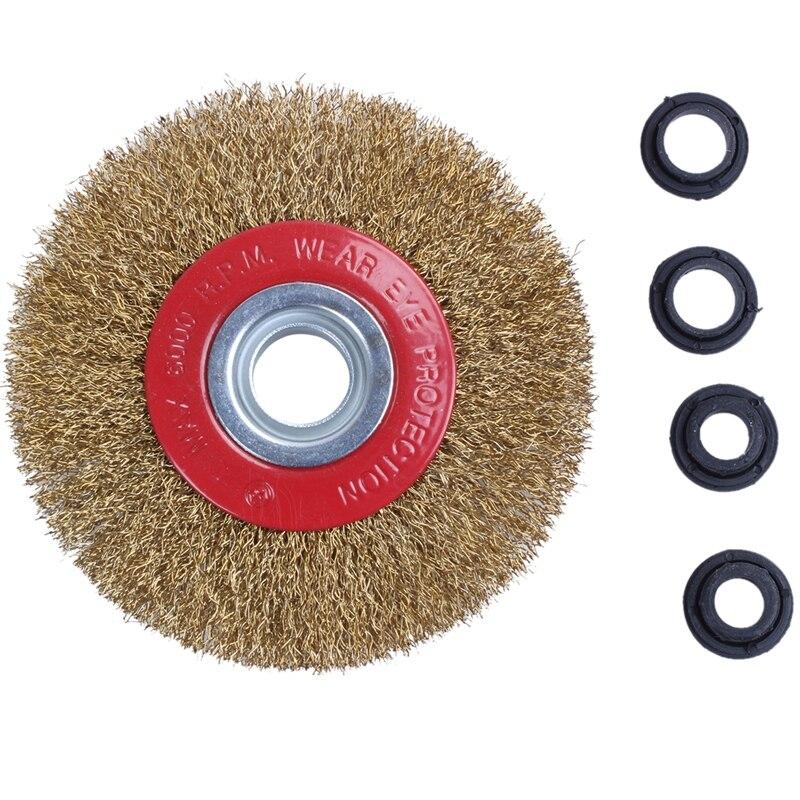 Проволочная щетка колесо для электроточило польский редукторы адаптер кольца