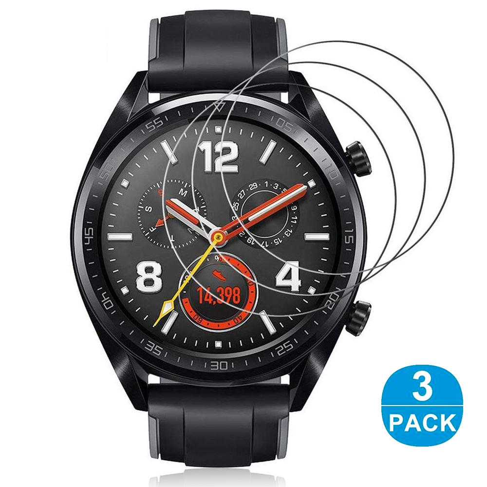 3Pcs Tempered Glass Protector For Huawei Watch Gt Gt2 46mm Protective Glass On The Huawei Gt 2 Smart Watch Armor Protection Film