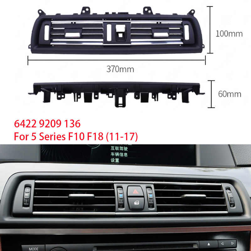 1Pcs Front Center Air Outlet Vent Dash Panel Grille Cover Voor Bmw 5 Serie F10 F18 523 525 535 interieur Mouldings Panel Grille