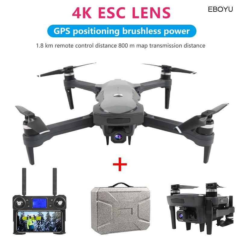 EBOYU XKY K20 5G GPS RC Drone WiFi FPV 4K HD ESC Camera Foldable Drone Brushless Motor Optical Flow Positioning RC Quadcopter