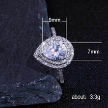Diamond ring rose gold rings Crystal moissanite topaz Drop shape Lady Mens accessories luxury jewelry B2767