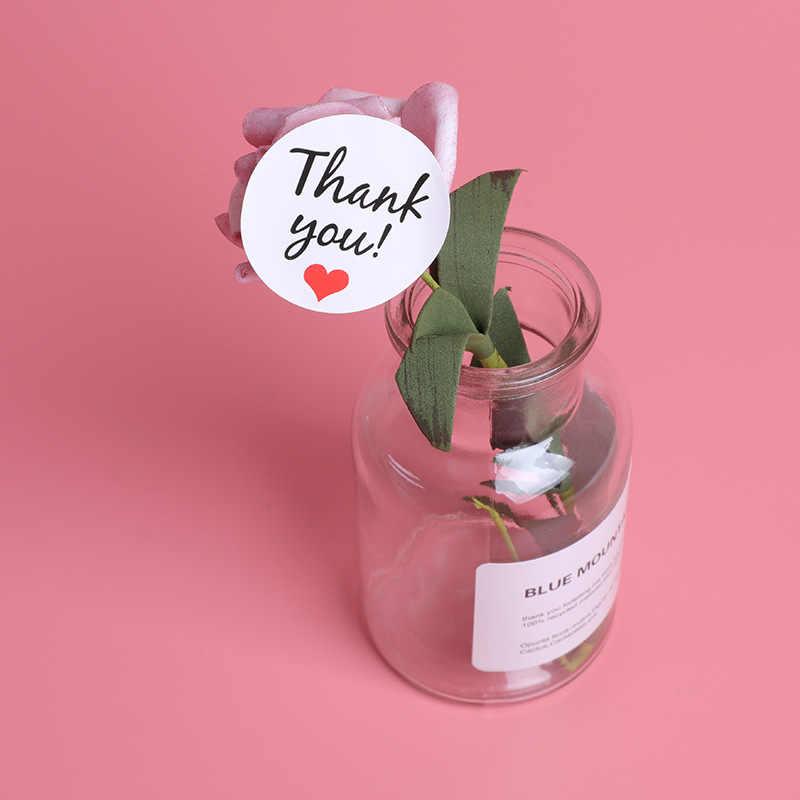 60/120 יח'\חבילה תודה לך מדבקת עגול חותם מדבקת Mutifunction DIY דקורטיבי מתנות חבילה תוויות עבור אפייה